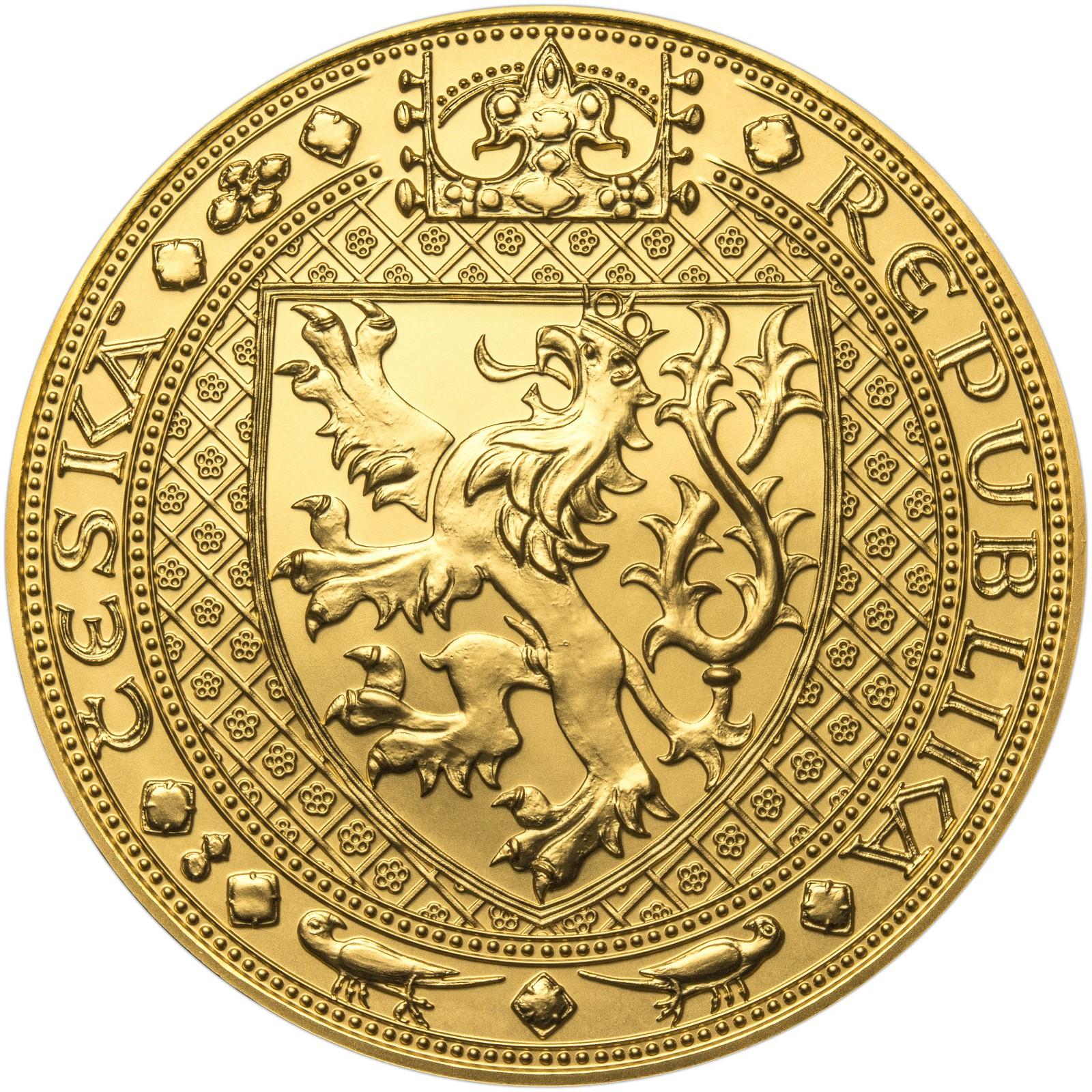 df52e51dd Nejkrásnější medailon II. Královská pečeť - 1 Kg ryzí zlato