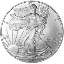 Náhled - 1 OZ American Eagle Silver Unc.