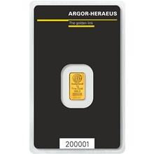 c760f23dfda8 Investiční zlato - Zlatá cihla 1 gram - 1257 Kč. - Argor Heraeus