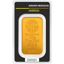 b5070520bcc0 Investiční zlato - Zlatá cihla 100 gramů - 96774 Kč. - Argor Heraeus