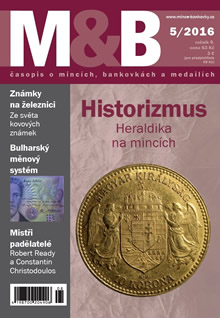 0629619a6 Časopis Mince a bankovky. Ročník 2016. Číslo 5.