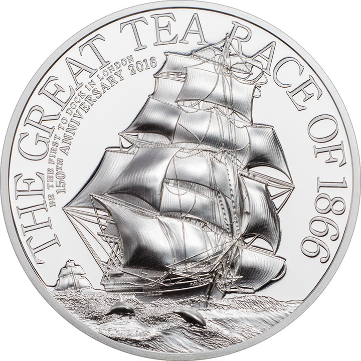 Náhled Averzní strany - 2016 Cook Islands - The Great Tea Race of 1866 Piedfort - 2 Oz Ag Proof