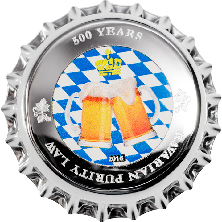 Náhled Averzní strany - Palau - 2016 500 Years Bavarian Purity Law - Ag Prooflike