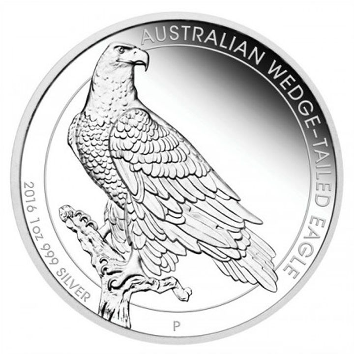 Náhled Averzní strany - 2016 Australian Wedge-tailed Eagle 1 Oz Ag Proof