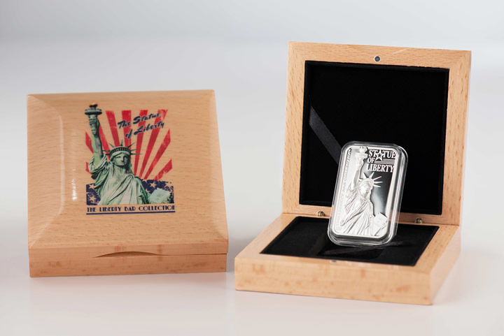 2017 Cook Islands - Statue of Liberty - The Liberty Bar 01 Proof - Ag