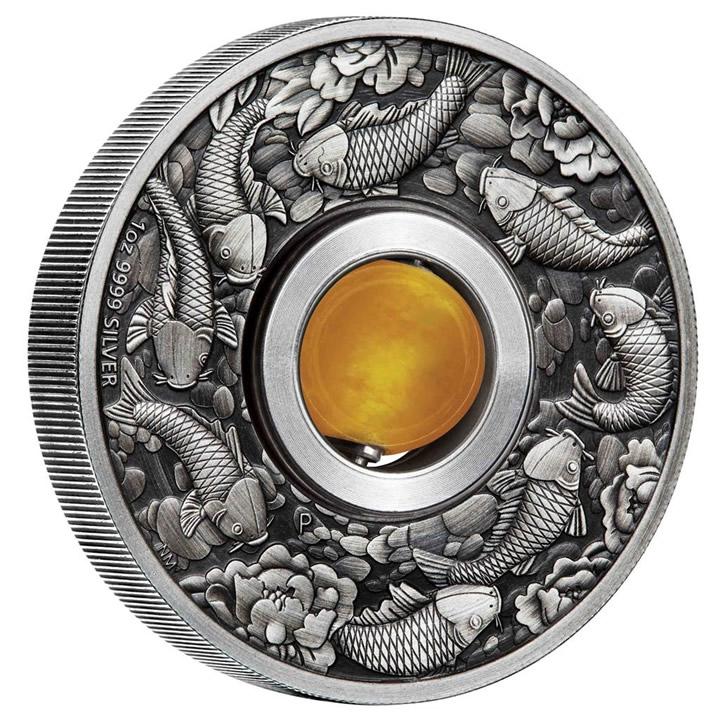 Náhled Averzní strany - 2018 Good Luck Rotating Charm 1 Oz Ag Antiqued