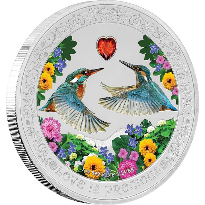 2018 Love Is Precious - Kingfisher 1Oz Ag Proof