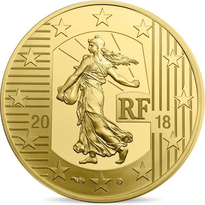 2018 The Ecu De 6 Livres 1/4 Oz Au Proof