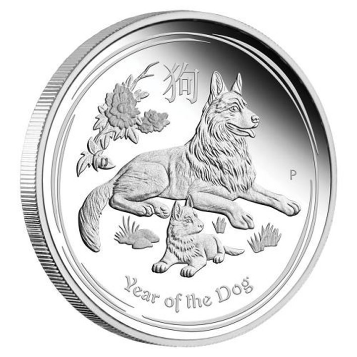 Náhled Averzní strany - 2018 Year of the Dog 1 Oz Ag Proof