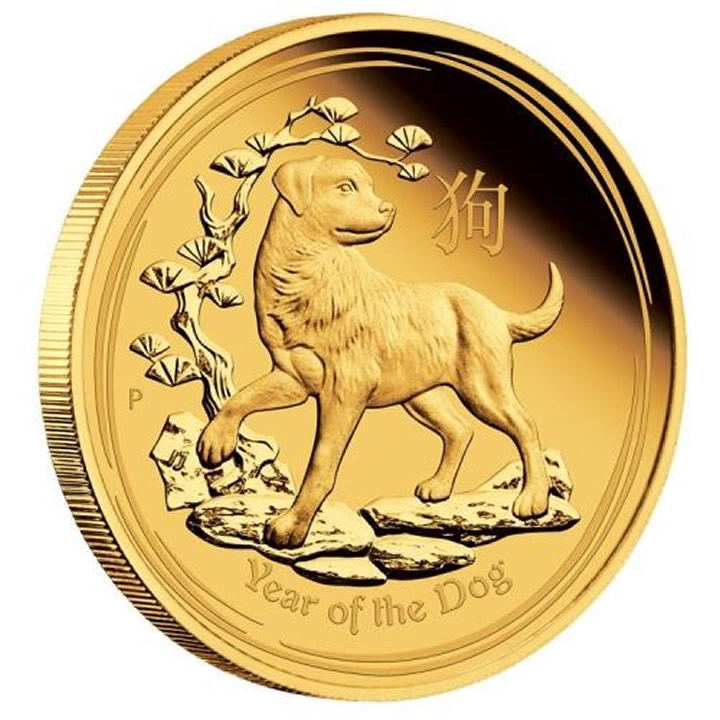 Náhled Averzní strany - 2018 Year of the Dog 1/4 Oz Au Proof