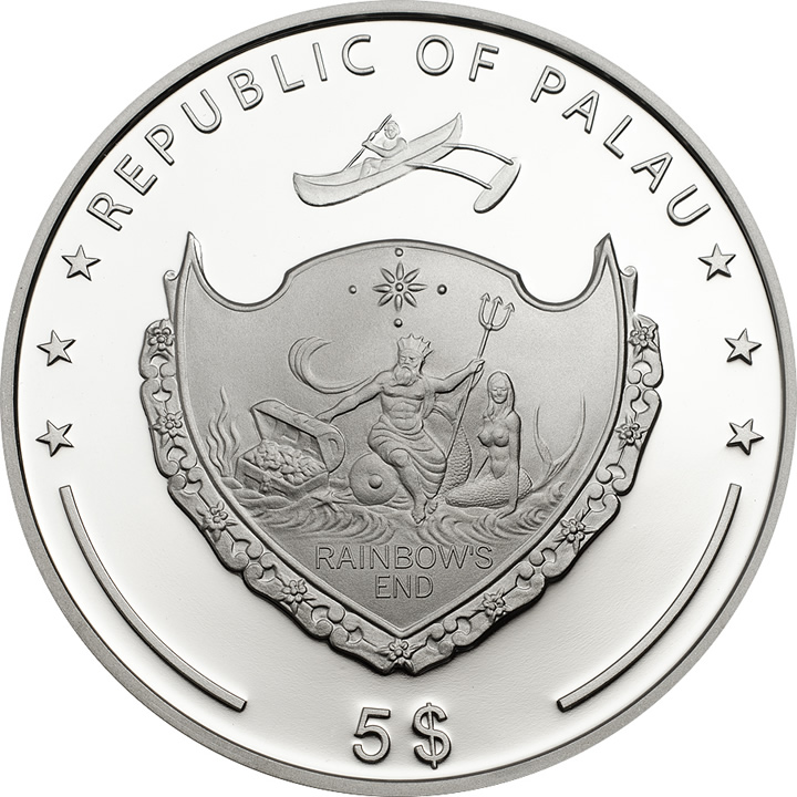 Náhled Reverzní strany - 2014 Palau - Pearl - Beauty of the Sea Ag Proof