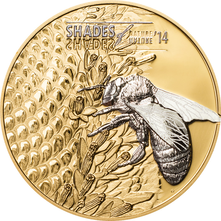 Náhled Averzní strany - 2014 Cook Island - Shades of Nature - Bee - Ag Proof