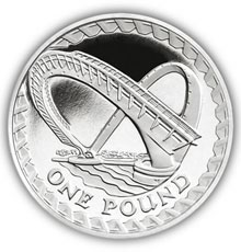 2007 Millennium Bridge £1 Silver Proof