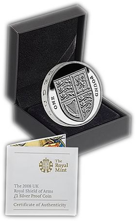 1 Pound Shield of Arms Silver Proof