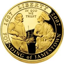 Jamestown 400th Anniversary $5 Gold Coin