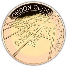 4th Olympiad London 2 GBP Au Proof 2008